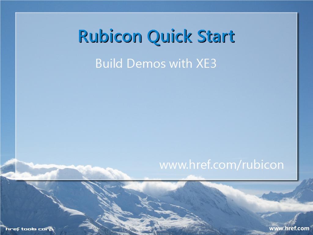 Rubicon Technical Quick Start Video