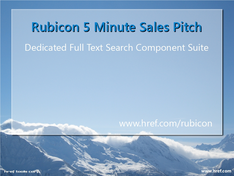 Rubicon 5 Minute Sales Pitch Video - First Frame