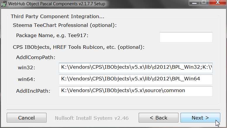 How to Install WebHub with TeeChart Pro and/or IBObjects